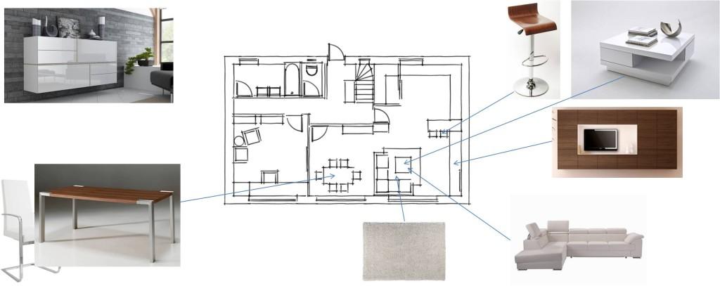 vzorová deska - nábytek